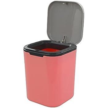 Amazon Com Estilo Mini Countertop Trash Can Brushed