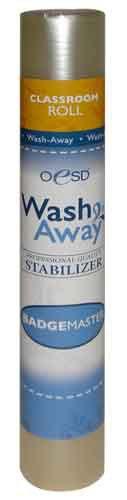 "OESD Badgemaster AquaFilm Wash-Away Stabilizer, Smaller Classroom Size 12"" x 3yds"