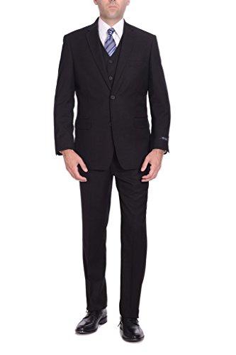 P&L Men's Suit Classic Fit Blazer Jacket Tux Vest & Flat Pants (2 3 Pcs ()