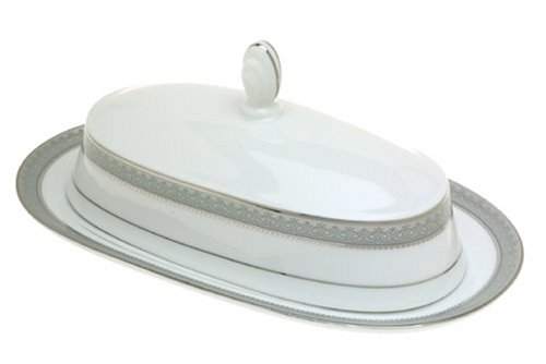 Mikasa Platinum Crown Covered Butter Dish L3428-360