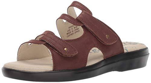 (Propet Women's Marina Slide Sandal Brown 12 B US)