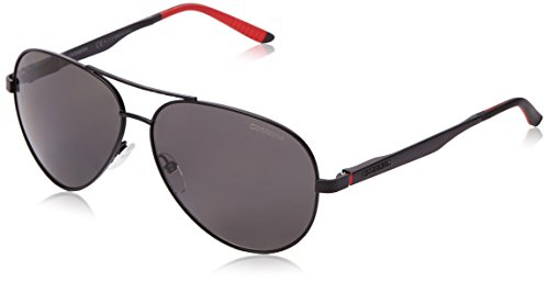 Carrera CA8010S Polarized Aviator Sunglasses, Matte Black & Gray Polarized, 59 - Aviator Shades Carrera