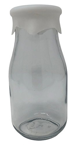Milk Bottle - Clear - 16 oz - w/Silicone Lid (Milk Hocking Anchor)