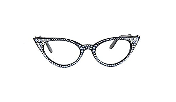 0be642c5e4f2 Amazon.com  Vintage Cat Eye Reading Glasses with Swarovski Crystals  (+2.00)  Health   Personal Care