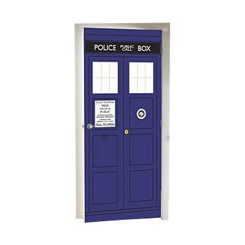 BBC Doctor Who The Tardis Police Box Door Cling Decal / Mural