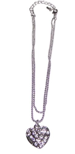Fashion Jewelry ~ Silvertone Volleyball Heart Charm Anklet (Style Anklets 045g 86 Volleyball Heart ) (Ankle Volleyball Bracelet)