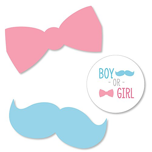 Big Dot of Happiness Gender Reveal - DIY Shaped Baby Shower Party Cut-outs - 24 Count