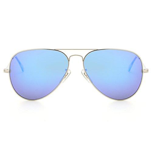 Lunettes deep blue Aviador Lunettes XZP Vue de de polarisées ovales Soleil Designer Marque pour Oculos Classiques Silver Hommes Polarizado Femmes UwHdPHA8nq