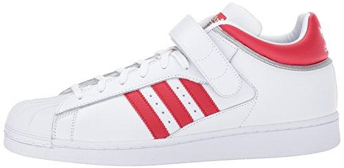 Shell Pro Da Adidas White metallic Uomo Originals scarlet Silver nOFnwxEq