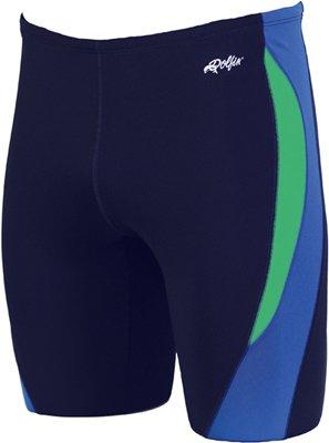 Dolfin Swimwear Color Block Jammer - Navy/Blue/Green, 32