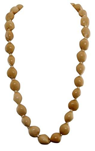 (Hawaiian Lei Necklace of Blonde Kukui)