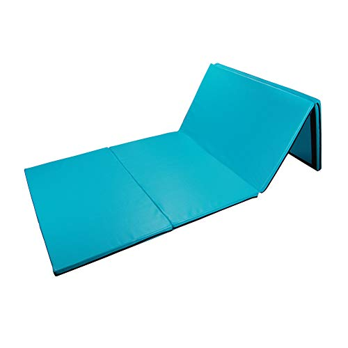 Polar Aurora 4'x10'x2 Multipe Colors Thick Folding Gymnastics Gym Exercise Aerobics Mats Stretching Fitness Yoga (Blue-Green)