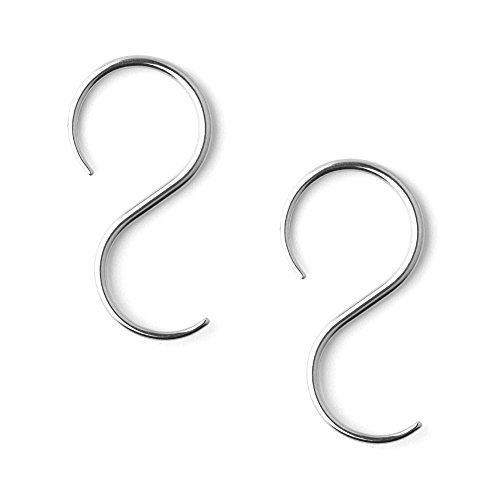 Ear Taper Body Jewelry (Ruifan 1Pair 316L Surgical Steel S-Shape Spiral Snail Taper Ear Stretcher Expander 16G Gauges Plug Ear Stretching Kit)