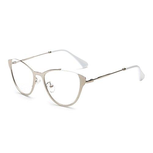 12695c5a9c4c59 Juleya Cat Eye Brille für Männer Frauen - Mode Brillen Brillengestell  1229YJJ08  Amazon.de  Bekleidung