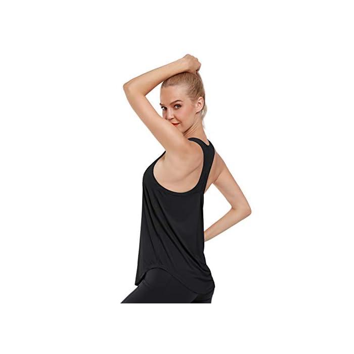 31NMSJjNGRL Camiseta sin mangas ultra suave y cómoda: hecha de tela súper suave y elástica (80% nailon + 30% spandex), liviana, transpirable y de secado rápido, perfecta para ropa deportiva y uso diario. Absorbe la humedad y de secado rápido: diseñado para eliminar la humedad de su cuerpo y proporcionar la máxima comodidad; mejorar su rendimiento de yoga / carrera / entrenamiento. 80% Nailon, 20% Elastano
