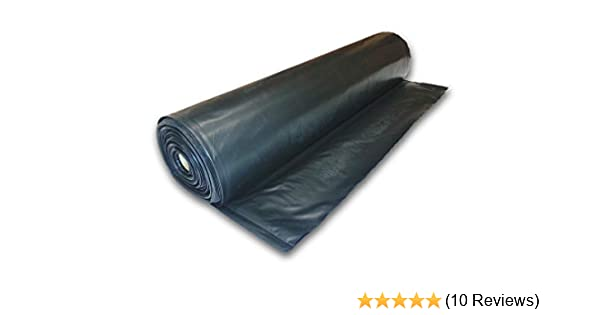 Amazon Com Plastic Poly Sheeting 20 Feet X 100 Feet True 10 Mil Black Incredibly Durable Top Visqueen Plastic Sheeting Home Improvement