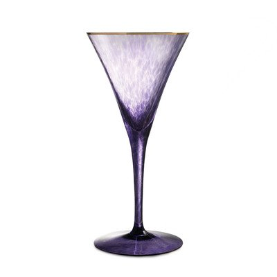 Rebel 5 oz. Flute Glass Color: Purple -