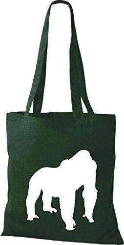Krokodil - Bolso de tela de algodón para mujer verde - gruen