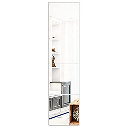 Amazoncom Beauty4u Square Mirrors 12 Inch 4pcs Flexible Wall