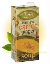 Pacific Natural Foods Organic Cashew Carrot & Ginger Bisque 17.6 oz. (Pack of