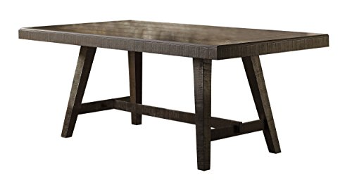 Homelegance Fenwick 76″ Dining Table Hand Scraped Wood Grain Rustic Accent, Gray Review