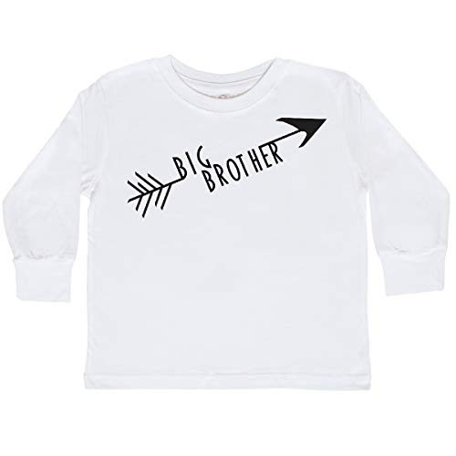 inktastic - Big Brother Arrow Toddler Long Sleeve T-Shirt 2T White 2959b