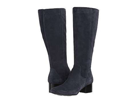Born Women Avala Knee High Boot, Dark Blue, Size 7.5