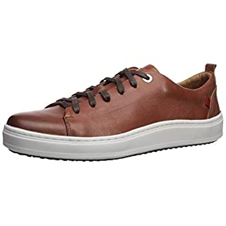 Marc Joseph New York Mens Genuine leather Made in Brazil Union Square Sneaker, Cognac Washed Nappa, 11 M US