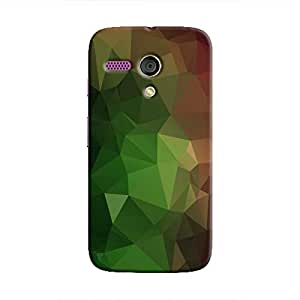 Cover It Up - Green and Red Pixel Triangles Motorola Moto G Hard Case