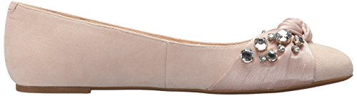 Nove West Womens Maudisa Suede Loafer Flat Light Naturale / Naturale Chiaro