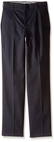 Red Kap Men's Pleated Twill Slacks, Charcoal, 38x34 ()