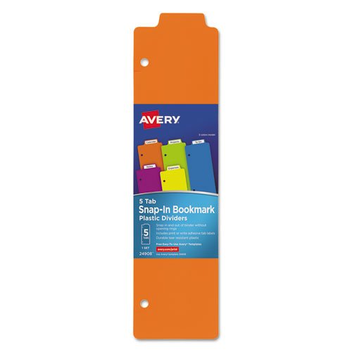 Avery Tabbed Snap-In Bookmark Plastic Di - Plastic Bookmark Shopping Results