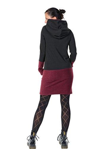 con cappuccio vestito casual pile Bord donna 3Elfen ACq7I