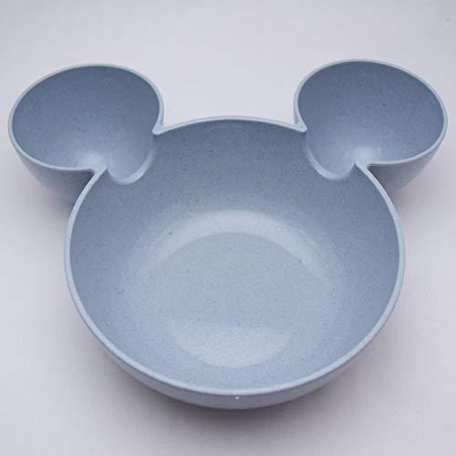 Water Hep Soup Bowls Cartoon Mouse Bowl Japanese Lazy Snack Plate Bowl Dishware Kid Pink Soup Bowl Ramen Noodles Korean Wheat Straw Kitchen Rice Bowl -