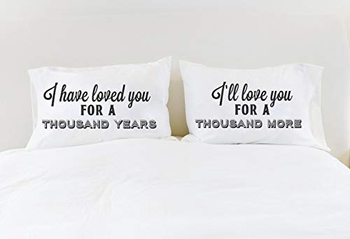 (A Thousand Years Christina Perri Song Couples Pillowcases Anniversary Gift Cotton Anniversary Gift)