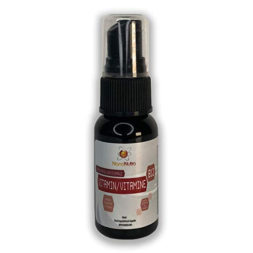 Liposomal Vitamin B12 Methylcobalamin by NanoNutra - Fastest Absorbing Liquid Vitamin B12 Methylated Formula | Energy Support | Brain Health Support | Immunity Support | Mood Support Supplement*