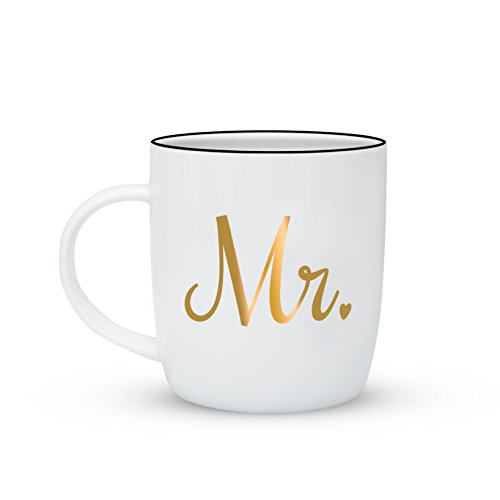 b8afd57779 Gifffted Mr and Mrs Gifts Mugs For Couple, Funny Wedding Anniversary Gift,  Couples Engagement Presents, Men Women Him His Hers Bride, Birthday Present  For ...