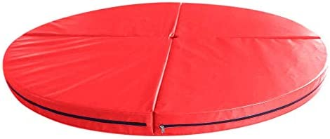 体操マット 47x3.9インチの4折りたたみポールダンスセーフティマットジムエクササイズフィットネスヨガフロアパッド (色 : 赤, サイズ : 120x10cm)
