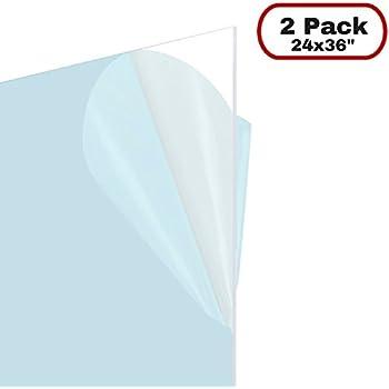 Amazon.com : Icona Bay Flexible Plastic Sheet (24x36 inch, 2 Pack ...