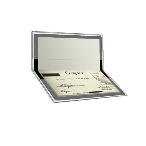 StoreSMART - Clear Plastic Checkbook Holders - 6 Pack - RSPC300-6