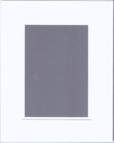 22x28 White and White Double Picture Mats or Photography Matting Bevel Cut for 18x24 Pictures