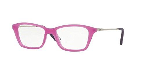 Ray-Ban Jr. Eyeglasses RY1540 3620 Violet Fluo Trasparent Rubber 48 14 - Ban Ray Eyeglasses Purple