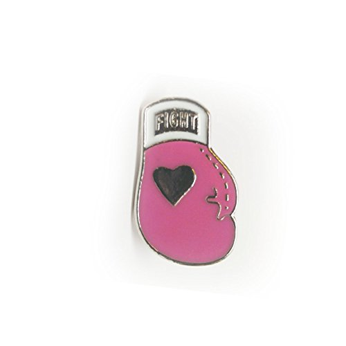 Breast Cancer Awareness Pink Ribbon Boxing Glove Lapel Pin (Hat Shirt Pin)