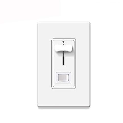(Dimmer Switch for Dimmable LED Dimmable CFL,600 Watt max Adapted to Incandescent/Halogen 120V and Incandescent Bulbs,3-Way Dimmer Switch, Slide Dimmer with Wallplate, White)