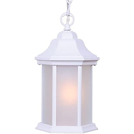 Acclaim 5185TW FR Madison Collection 1 Light Outdoor Light Fixture Hanging Lantern Textured White