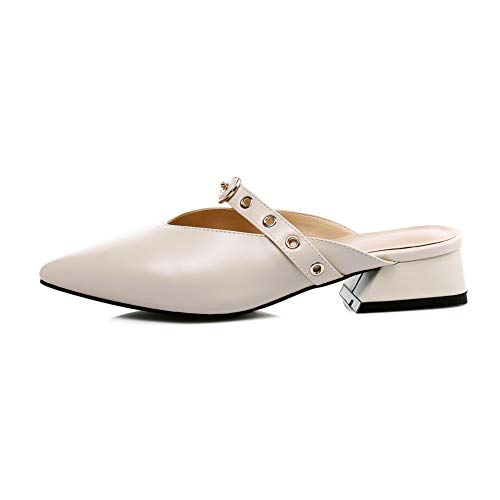 BalaMasa Pumps Womens Travel ASL05701 Urethane Non Shoes Solid Marking Beige rrwdSYx