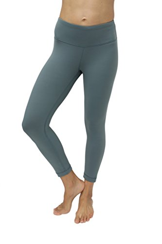 90 Degree By Reflex Yoga Capris - Yoga Capris for Women - Hidden Pocket-Sage-S