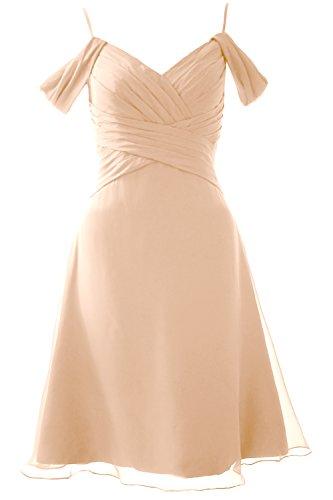 MACloth Elegant Off the Shoulder Short Bridesmaid Dress Wedding Party Formal Gown Bellini