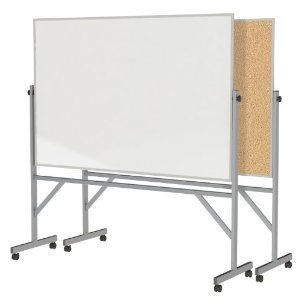 Ghent Reversible Cork Bulletin Board/Whiteboard with Aluminu