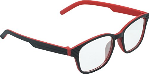 True Gear iShield Anti Reflective Computer Glasses Block Blue Light and Harmfull UV with Clear Lens for Kids and Teens - Active Style - Black and Red with 2 in 1 Stylus Pen